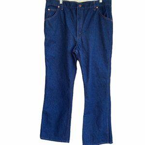 Sears Roebucks Jeans Straight Dark Wash Vtg 70s